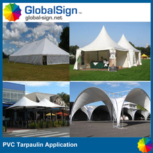 coated Stretch pvc tarpaulin for tent