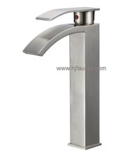 Good Brushed Nickel Brass Basin Mixer Faucet (81H23-BN)