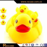 natural latex toy chicken bath mini rubber bath duck toy