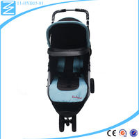 Custom made Silk cloth tower hand car baby walker Folding baby carriage