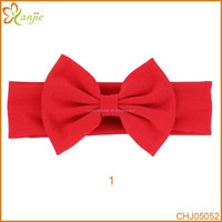 """5"""" Large Messy Bow headband Baby Solid Jersey Headwrap Hair Accessories"""