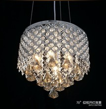 plastic crystal chandeliers with stainless steel material for home decor