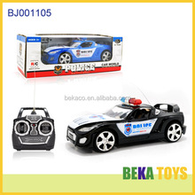 New children toy replica radio control cars plastic police cars toys easy go paddy wagon