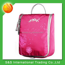 Portable Foldable Lightweight Moisture-proof High Quality Anti-tear Fabric Zipper Travel Toiletry Kit Cosmetics Bag