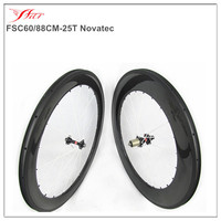 Special carbon wheels with white spokes 60mm/88mm mixed clincher rims for road bike 700C glossy carbon wheels