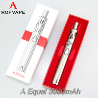 New arrival technology Rofvape A Equal 3000mah 50w vapor pipes ego t battery with micro usb e cig