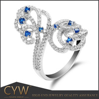 CYW companies looking for distributors, 925 sterling silver luxurious jewelry zirconia ring manufacturer