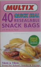 kitchen cooking small plastic clear zip lock sealed bag
