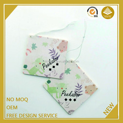 Guangzhou promotion items 2015 paper hanging cardboard solid freshener for car