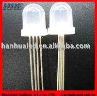 8mm round full color little diffused led diodes