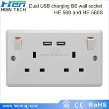 Hotel furniture power outlets UK type with USB ports