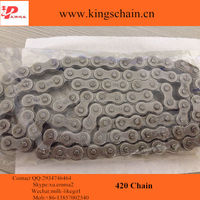 Grey motorcycle chain 420 4 side rivet 420 chain for Pakistan