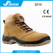Nubuck industrial safety boots with steel toe