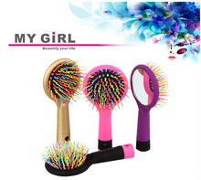 2015 My girl new style Animal painting,fashional wood round hair brushes wholesale
