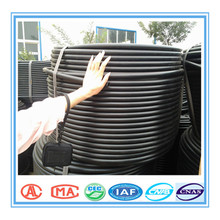 black plastic water pipe roll/irrigation pipe/ plastic pipe