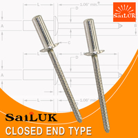 Machinery industrial parts All stainless steel closed rivet