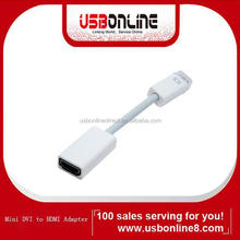 High quality Mini DVI to HDMI cable Adapter