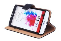 For lg g3 cases and covers,top quality stand flip real Leather case for lg g3
