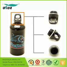 Wholesale good price best quality black water bottle with a panther logo