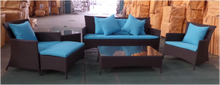 Recyclable long life-time cheap blue Outdoor Sofa