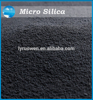 Densified silica powder for filled foaming concrete additive