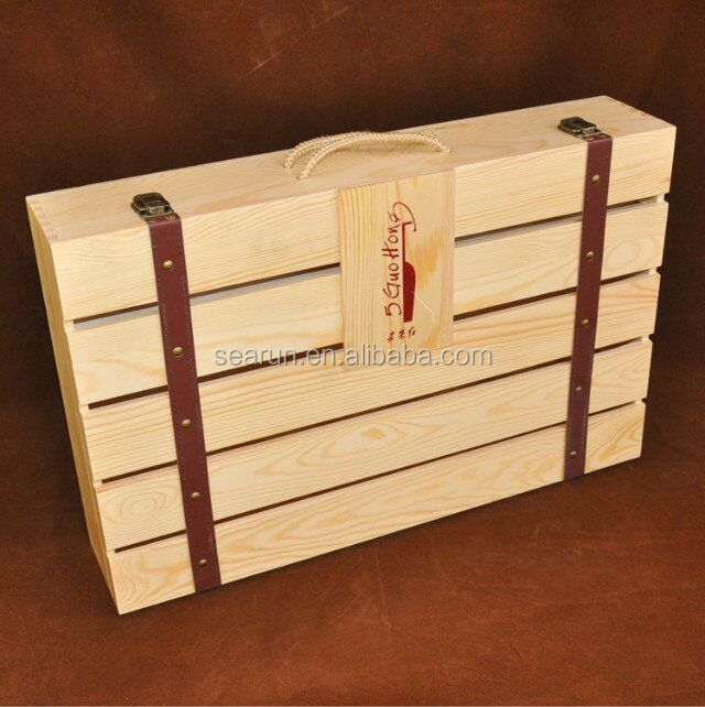 Wooden Wine Box/crates - Buy Wooden Wine Box,Pine Wood Wine Boxes ...
