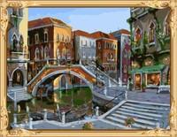 landscape canvas oil painting art set for adults GX7309