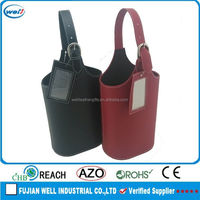 Eco-friendly PU leather wine 5 liter box manufacturer