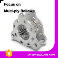 Low spring rate stainless steel welded pipe expansion bellows