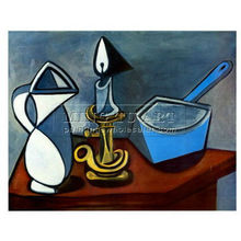 Handmade Pablo Picasso abstract Oil painting, Enamel Saucepan