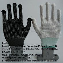 PVC dotted gloves ,safety gloves ,one side pvc palm dots working gloves