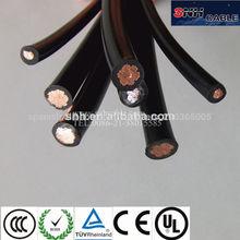 de color rojo y negro núcleos de cable de energía solar