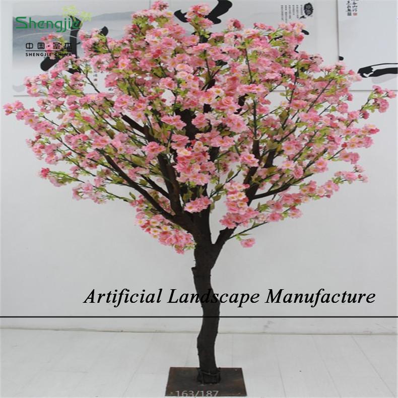 Sjc10 d coratif d 39 int rieur artificielle fleur de cerisier - Arbre artificiel interieur ...