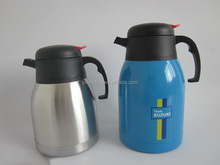 Red / Blue Metal Color Large Stainless Steel Vacuum Jug / Coffee Pot with Silk Printing / thermos coffee pot 2.0L