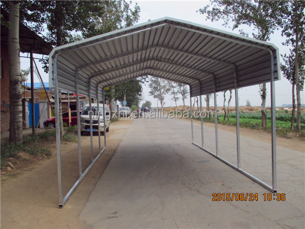Motorcycle carport buy carport with arched roof metal for Single slope carport