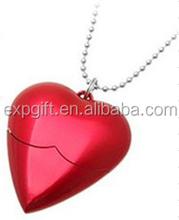 Heart USB Flash Drive / Heart Necklace USB Flash Drive / Valentine's Day USB Flash Drive