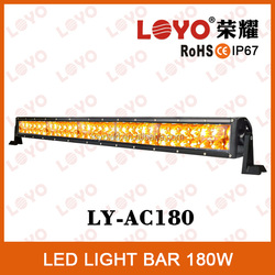 High quality 180w auto led lighting bar 12V IP67 white/amber led working light bar