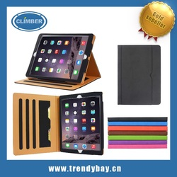 Amazon hot selling unique style stand leather case for iPad pro with document holder