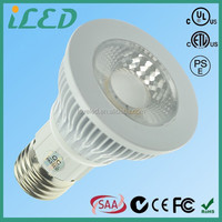 5W 6W LED COB Spotlight Dimmable 120 Volt Medium Base E26 E27 Warm White LED PAR20 2700K