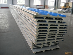 container house material Polyurethane foam PU sandwich panel price