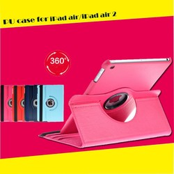 360 rotating PU case for iPad 2/3/4 case 10 colors availble with factory price