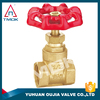 TMOK stem water meter brass gate valve and thread material Hpb57-3 and CE approved