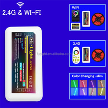 led strip 2.4G-RF wireless RGB smart phone control color changed solar controller m-7