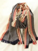 C84344A Lady retro style striped scarf new fashion scarf shawl