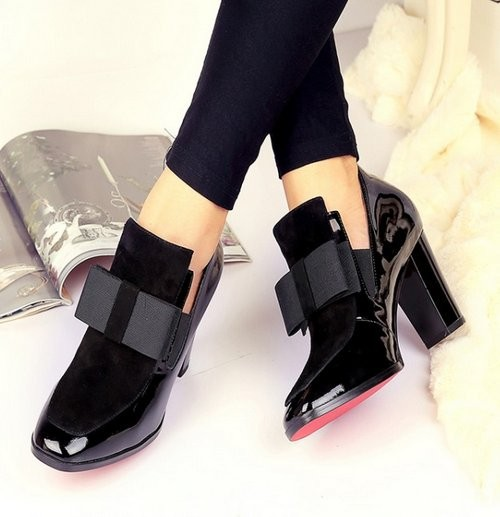 Free Shipping Half Ankle Short Natrual Real Genuine Leather High Heel