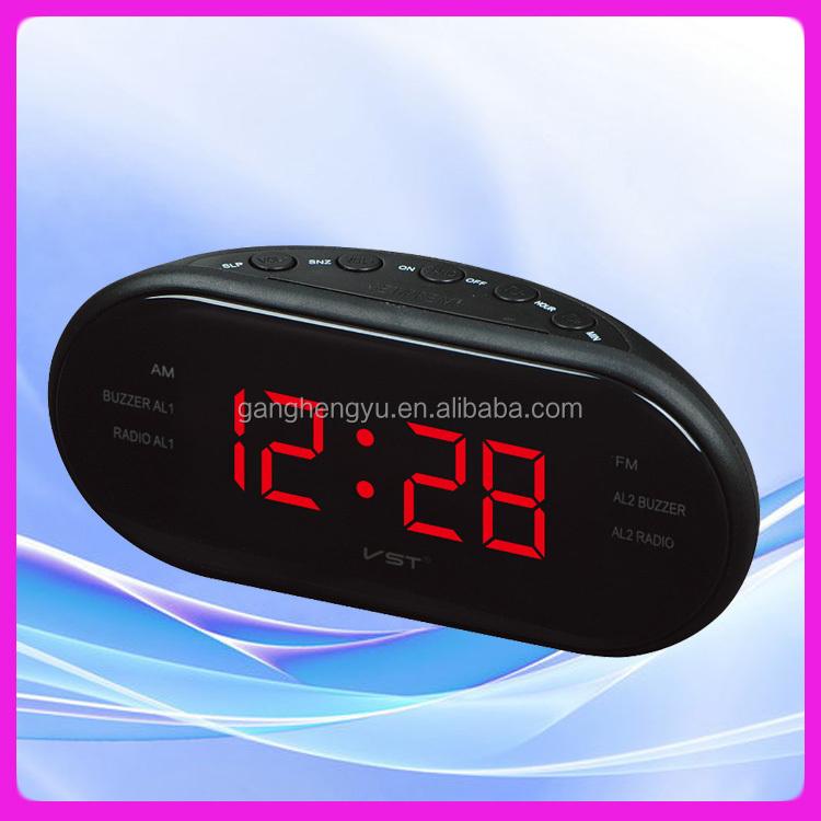 radio alarm clock am fm talking clock led radio clock buy radio clock funny talking alarm. Black Bedroom Furniture Sets. Home Design Ideas