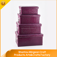 High Grade Home Storage luxury purple stackable cube fabric outdoor storage box