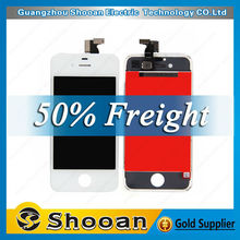 low price chinese mobile for iphone4s touch screen digitizer with lcd assembly,lcd digital display for iphone 4s
