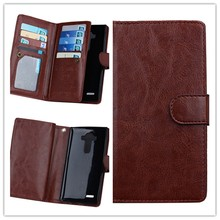 New Style PU Leather Wallet Hard Plastic Card Holder Cell Phone Case For LG G4