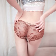 DK401 Women Sexy Lace Mesh V-string Briefs Panties Thongs G-string Lingerie Underwear